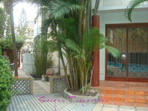 Private entrance to each villa