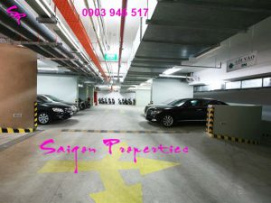 Parking-in-basement-of-Saigon-Pavillon-Apartment-For-Rent-in-District-3