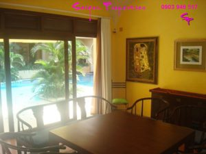 VILLA FOR RENT IN SAIGON - GREEN SPACE FOR peaceful life - Dining room with view