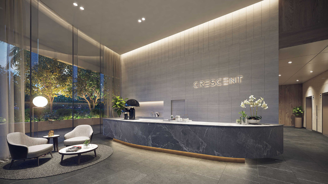 Crescent-lobby-at-City-Garden-Apartment-for-rent