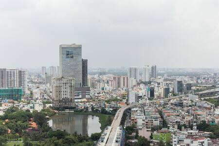 View from City Garden Apartment for rent in hcmc